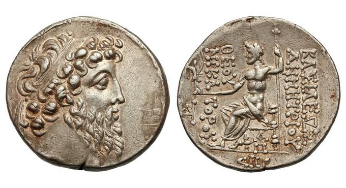 Государство Селевкидов, Деметрий II Никатор, второе правление, 129-125 годы до Р.Х., тетрадрахма
