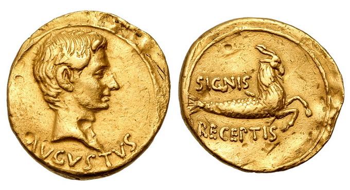 Римская империя, Август, 27 год до Р.Х.-14 год, аурей