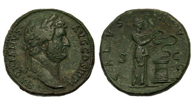 Римская империя, Адриан, 117-138 годы, сестерций 2