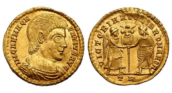 Римская империя, Магненций, 350-353 годы, солид