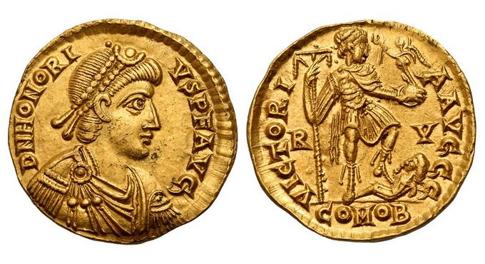 Римская империя, Гонорий, 393-423 годы, солид