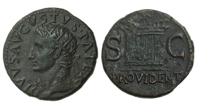 Римская империя, Август, 27 год до Р.Х. – 14 год, дупондий