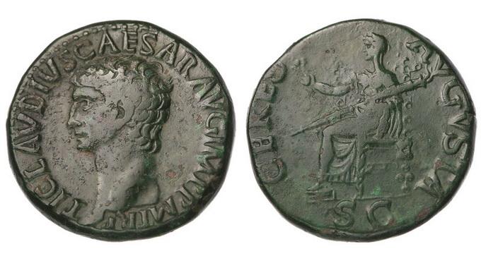 Римская империя, Клавдий, 41 - 54 годы, дупондий