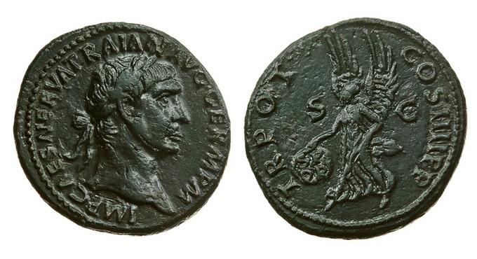Римская империя, Траян, 98-117 годы, асс