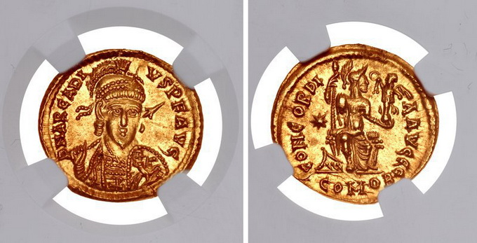 Римская империя, Аркадий, 383-408 годы, солид