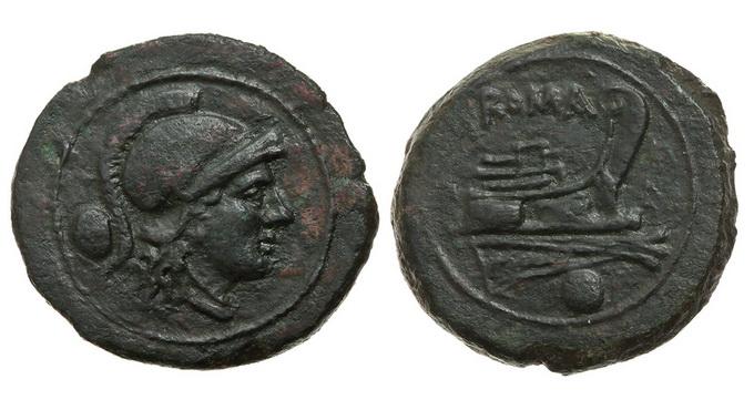 Римская республика, анонимный выпуск, 215-211 годы до Р.Х., унция