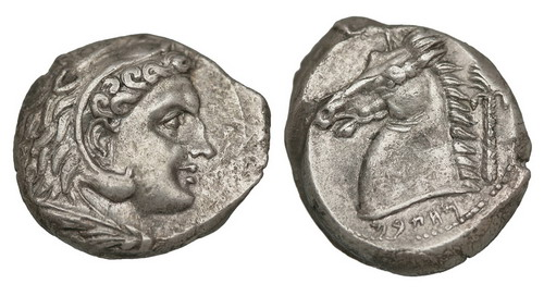 Сицилия, владения Карфагена, 300-290 годы до Р.Х., тетрадрахма