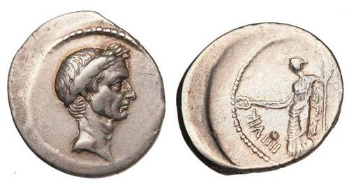 Римская республика, Г.Юлий Цезарь, 49-44 годы до Р.Х., денарий