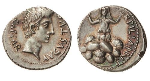 Римская империя, Август, 27 год до Р.Х. - 14 год, денарий