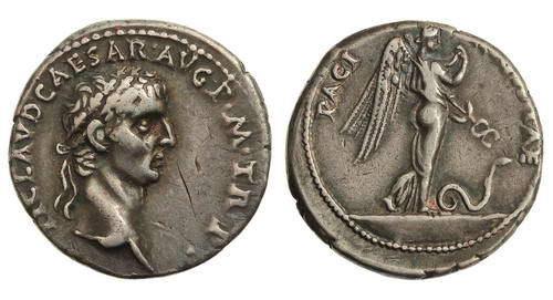 Римская империя, Клавдий, 41 – 54 годы, денарий