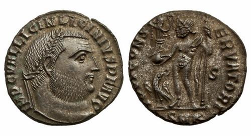 Римская империя, Лициний I, 308-324 годы, нуммий 2