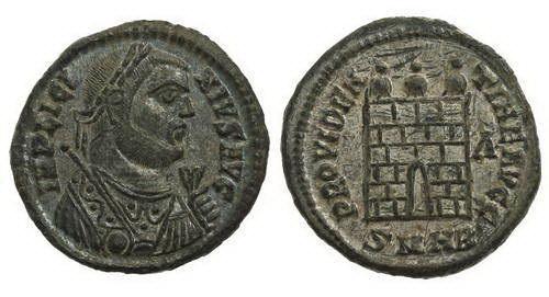 Римская империя, Лициний I, 308-324 годы, нуммий 3