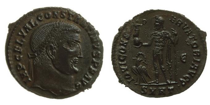 0207 2015 Римская империя, Лициний I, 308-324 годы, нуммий