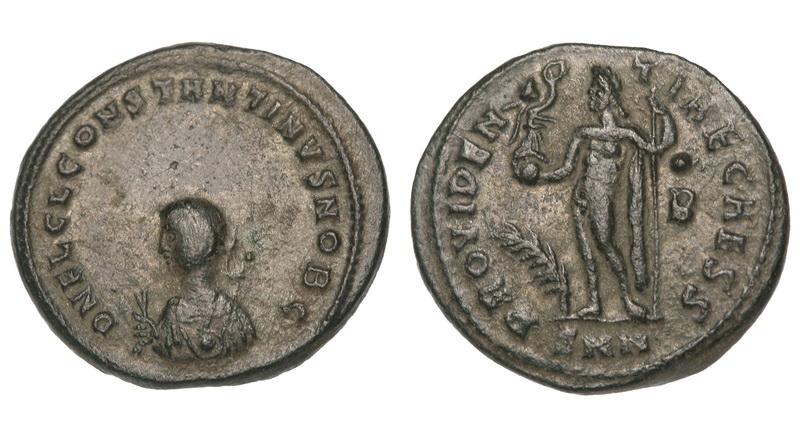 0207 2015 Римская империя, Константин II, 317 – 340 годы, нуммий