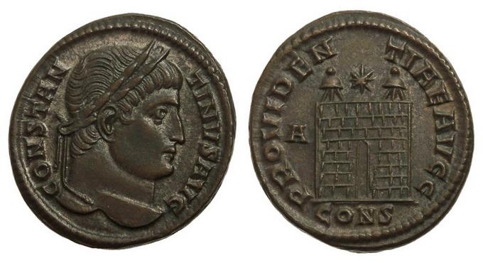 0207 2015 119 Римская империя, Константин I Великий, 307-337 годы, нуммий