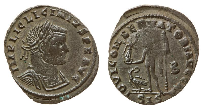 0207 2015 Римская империя, Лициний I, 308-324 годы, нуммий 2