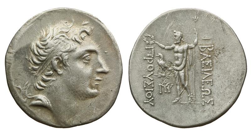 Вифинское царство, Прусий II Кинег, 182-149 годы до Р.Х., тетрадрахма