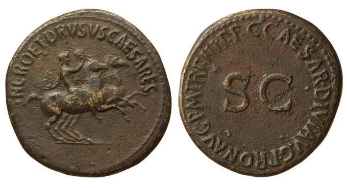 Римская империя, Нерон и Друз Цезари, 31-33 годы, дупондий