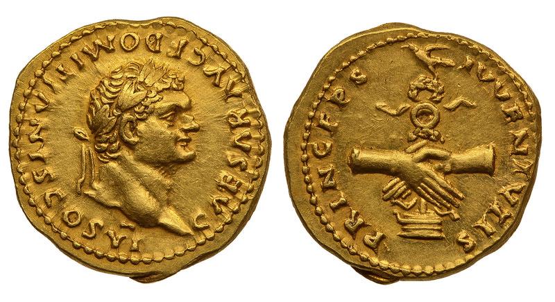 Римская империя, Домициан, 81-96 годы, аурей