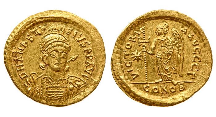 Византийская империя, Анастасий I, 491-518 годы, солид 2
