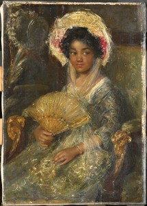 Simon Maris. Young Girl Holding a Fan. Old title Young Negro-Girl..JPG