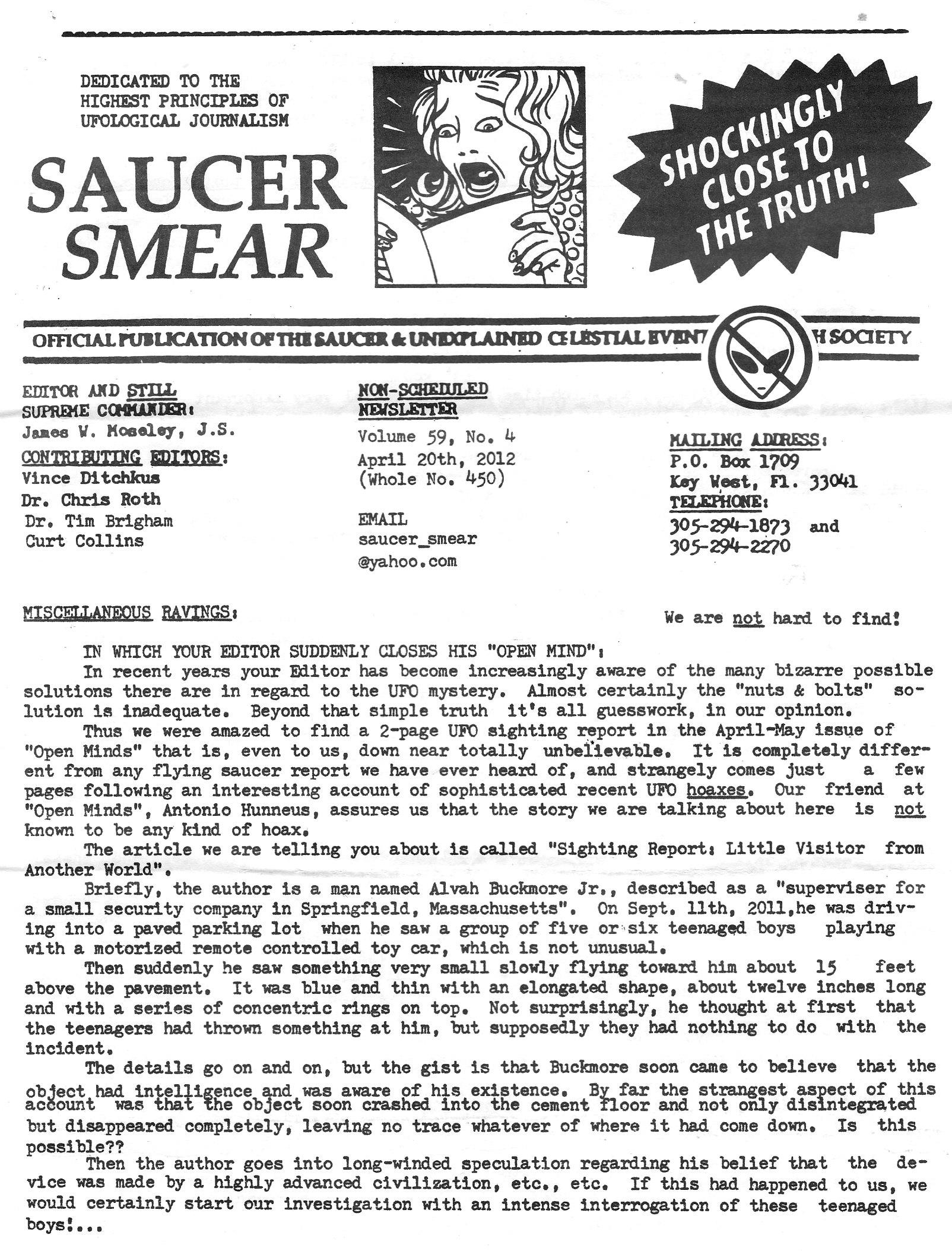Saucer Smear Vol59 No4 450