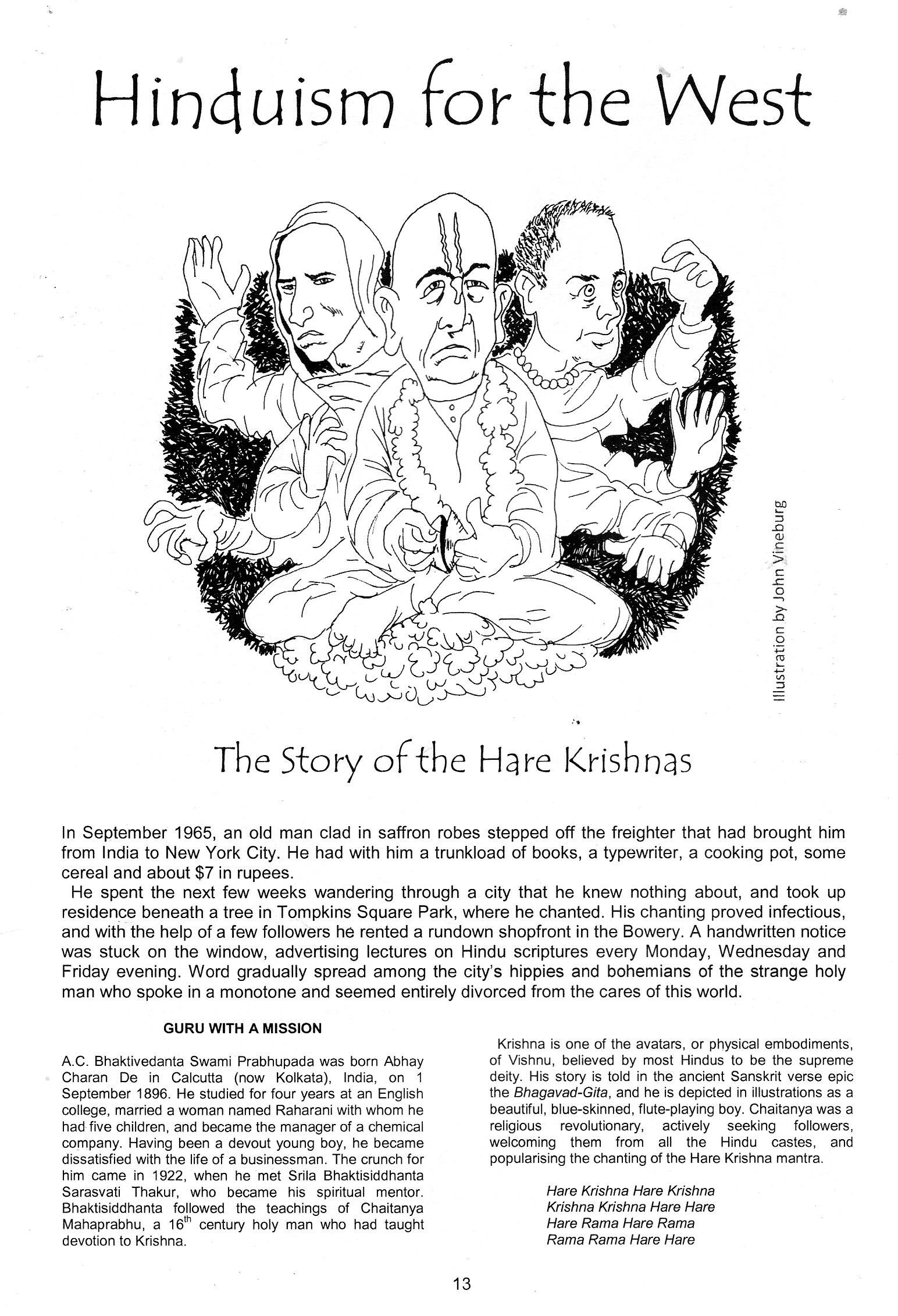 Bizarrism 12 Hare Krishnas