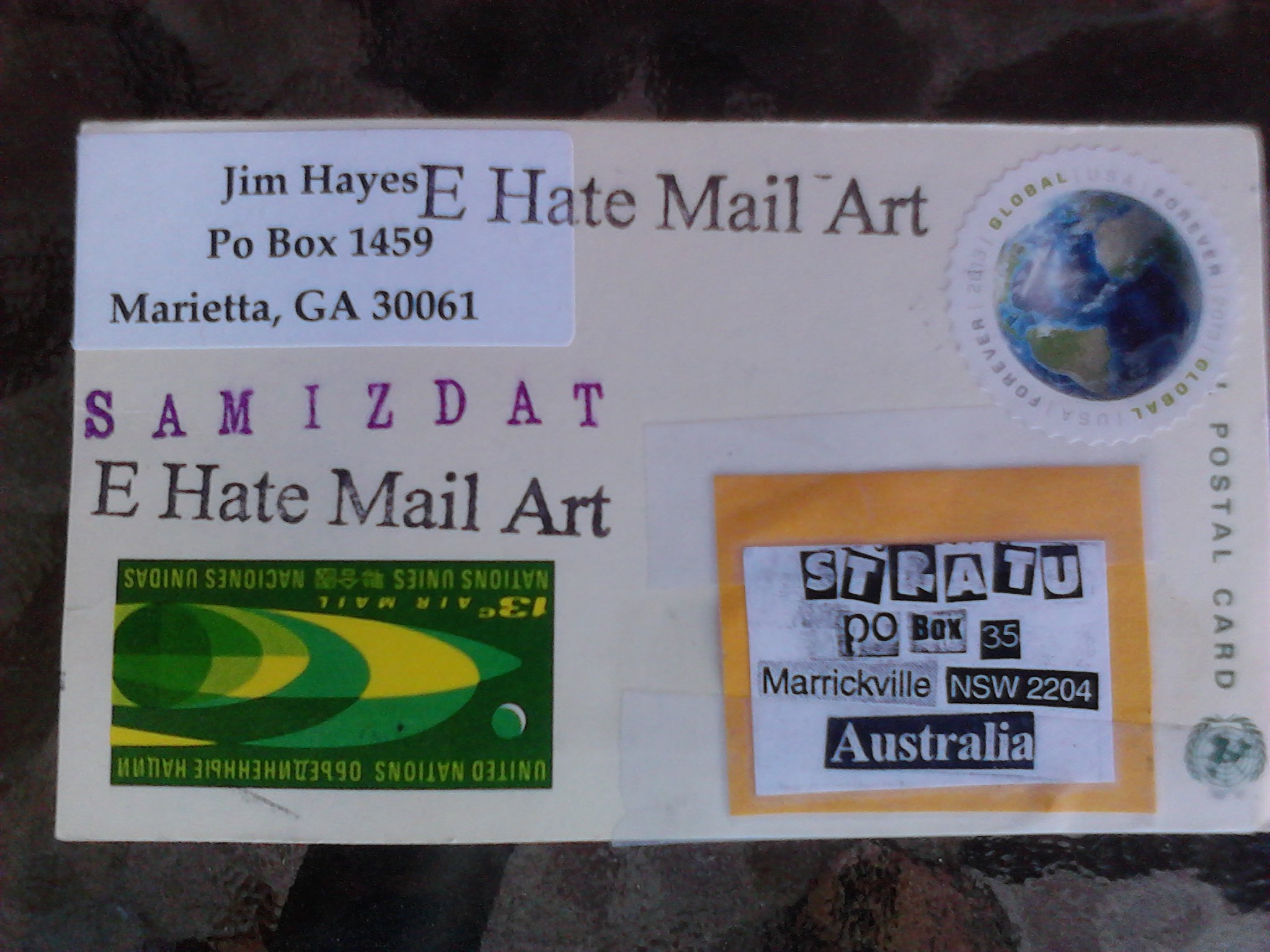 Postcard by Jim Hayes 200313