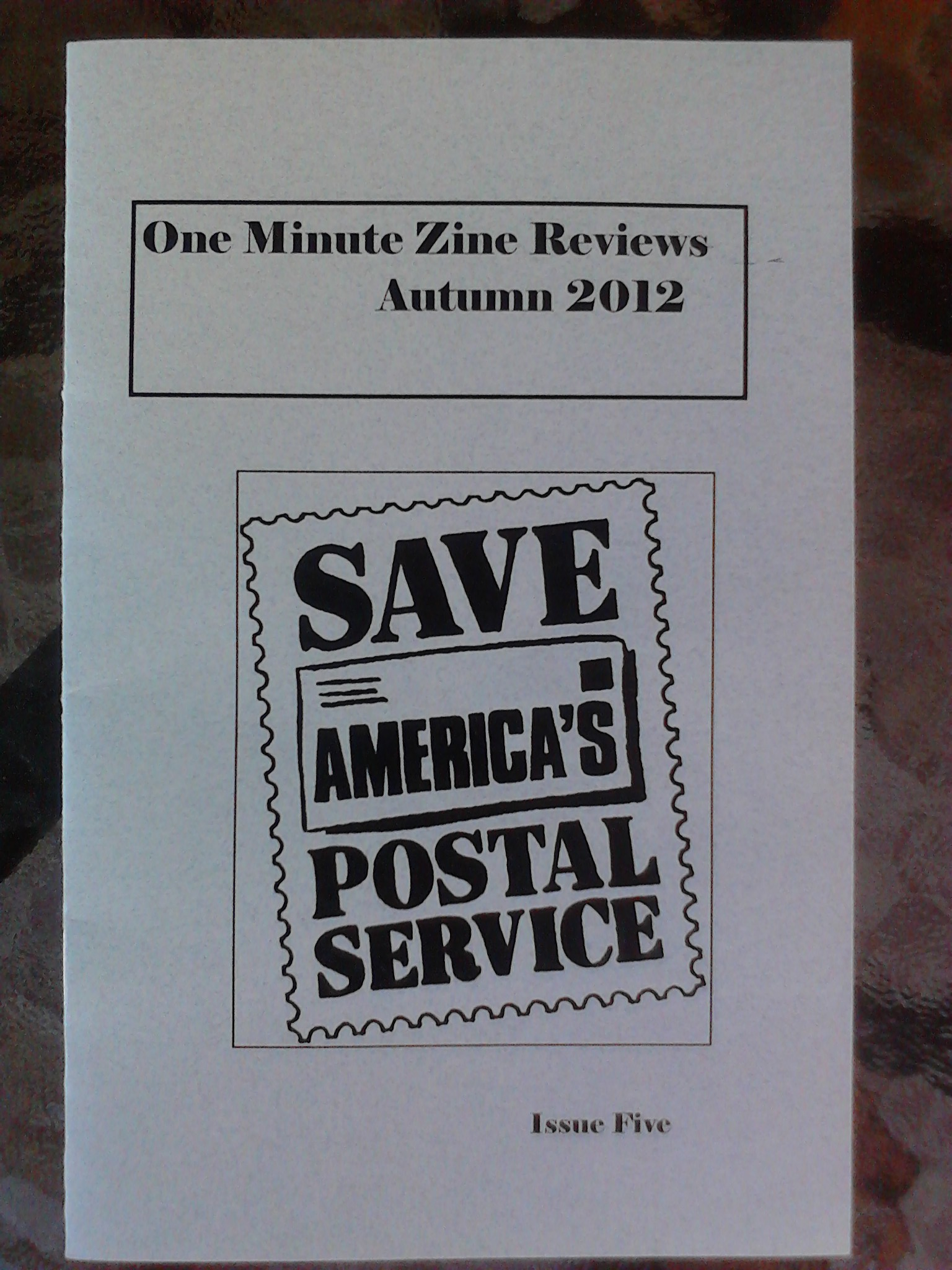 One Minute Zine Reviews Autumn 2012