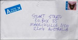 Envelope from Kapreles 280914 front