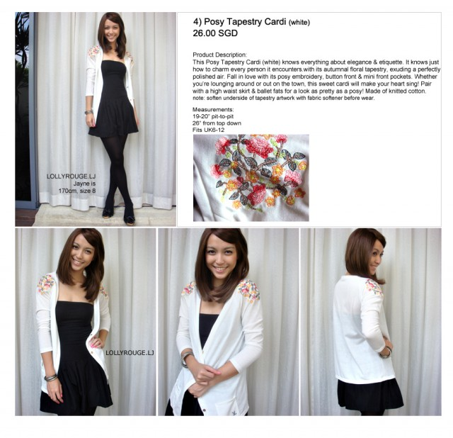 Lollyrouge Posy Tapestry Cardi