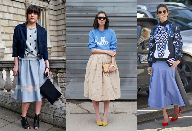 how-to-wear-sweatshirt-with-midi-skirt