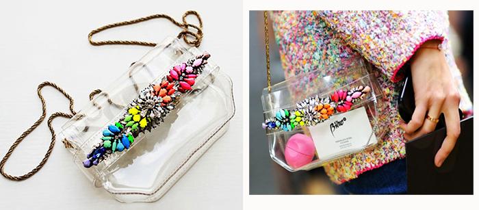 2013-rainbow-Shourouk-colored-gem-transparent-PVC-bag-dropshipping-handbag