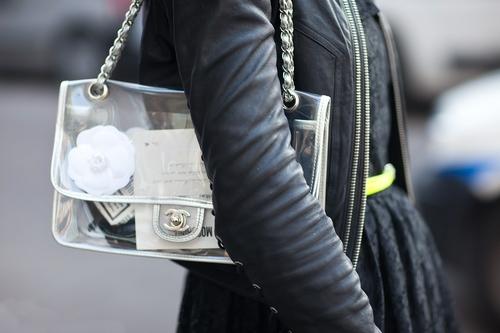 chanel clear bag