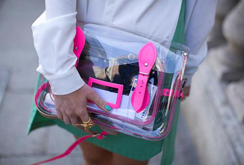прозрачный портфель