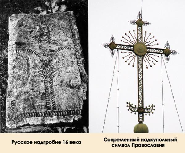 Русское надгробие XVI века и современный надкупольный символ «Православия» — что общего?