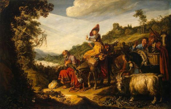 """Lastman,_Pieter_-_Abraham""""s_Journey_to_Canaan_-_1614"""