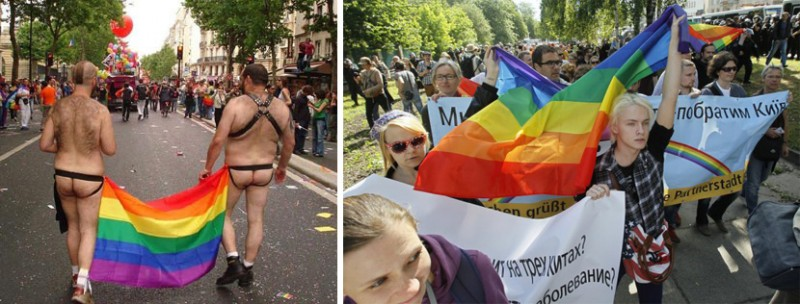 Рост гомосексуализма в европе