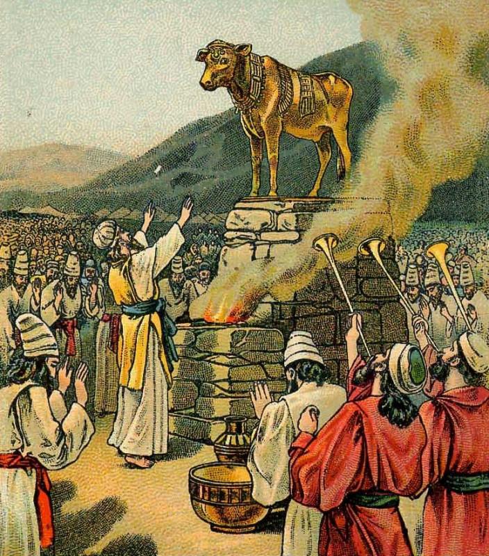 Картинки моисей и золотой телец
