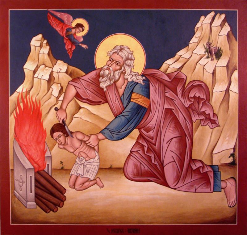Данная икона отражает древнейшую иудейскую традицию жертвоприношения.
