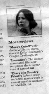 Review by LATimes totally contradicts my views of film as love story