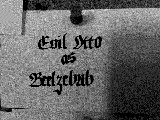Moving on… next card:  EVIL OTTO AS BEELZEBUB