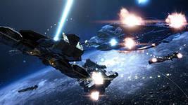 бой в космосе