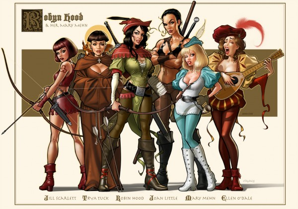art-красивые-картинки-Робин-Гуд-Robyn-Hood-and-her-Mary-Mehn-789034