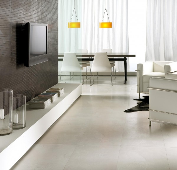 La Faenza EXPLORER Bianco living room floor tiles