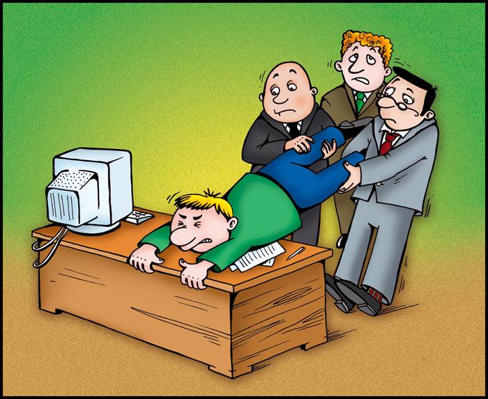 Открытки на работе напряг