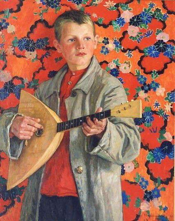 Балалаечник. 1930. Богданов-Бельский