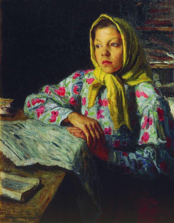 Портрет девочки. Богданов-Бельский