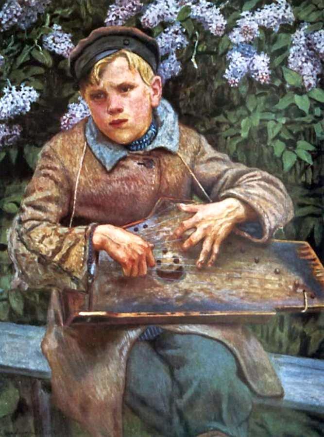 Богданов-Бельский. Юный музыкант. 1920-е