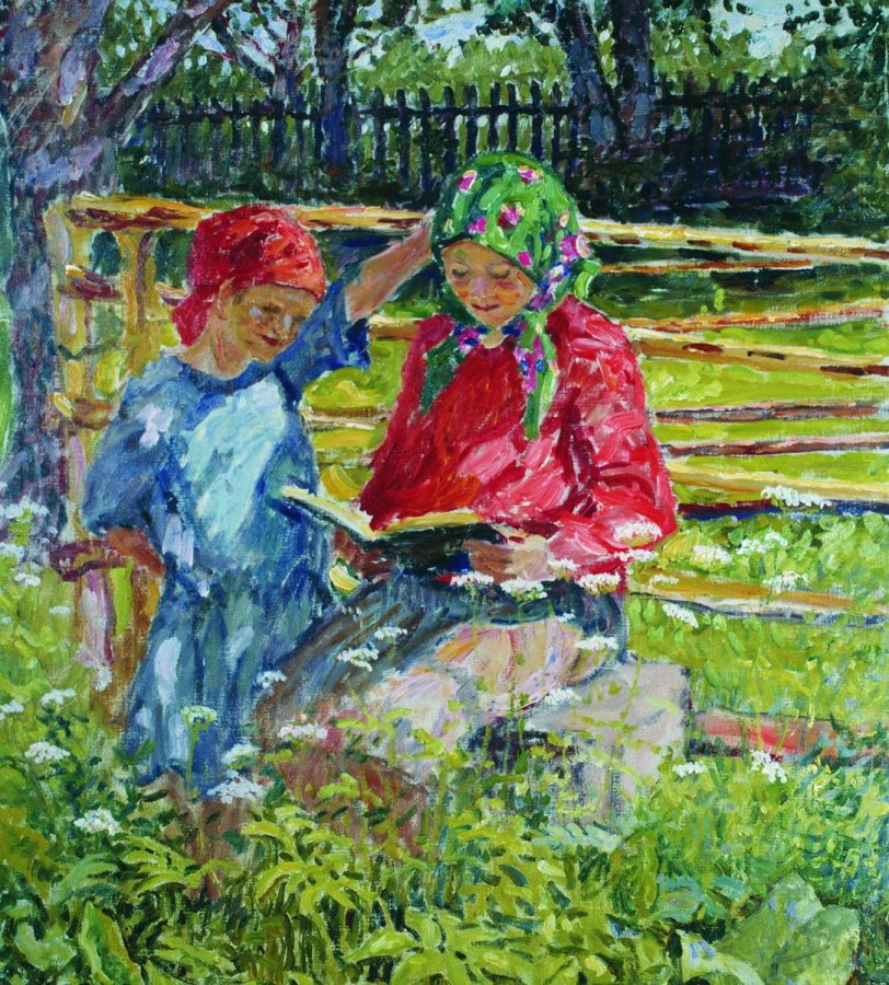 Девочки в платочках. 1920-е